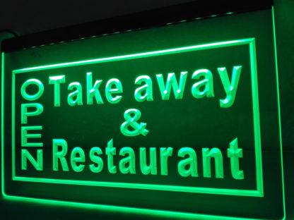 Open Take away & Restaurant neon sign LED