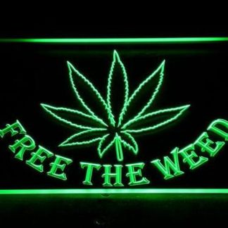 Free the Weed neon sign LED