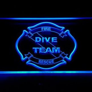 Fire Rescue Dive Team neon sign LED