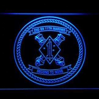 US Marine Corps 2nd Battalion 11th Marines neon sign LED