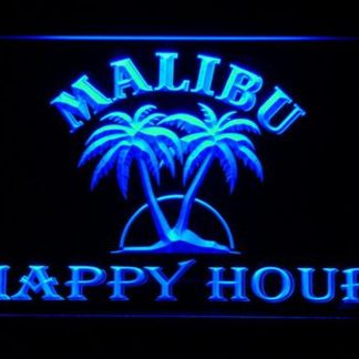 Malibu Happy Hour neon sign LED