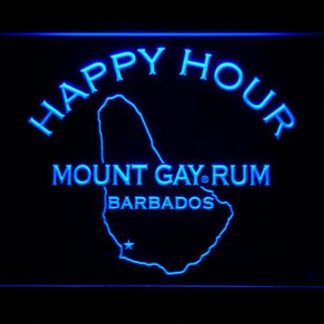 Mount Gay Rum Happy Hour neon sign LED