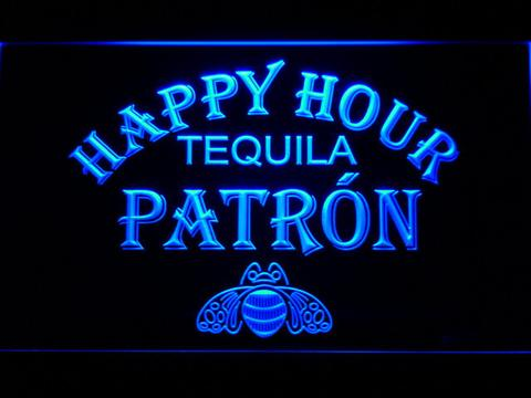 Patron Happy Hour neon sign LED