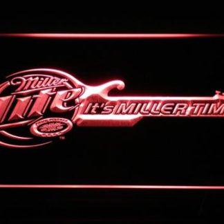 Miller Lite - Miller Time Guitar neon sign LED