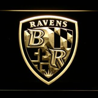 Baltimore Ravens Shield Logo neon sign LED