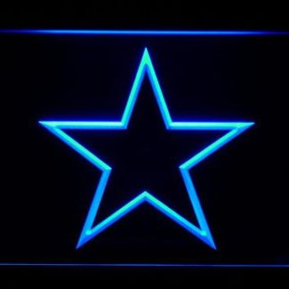 Dallas Cowboys Star Outline neon sign LED