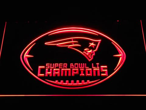 New England Patriots Super Bowl 51 Champions neon sign LED