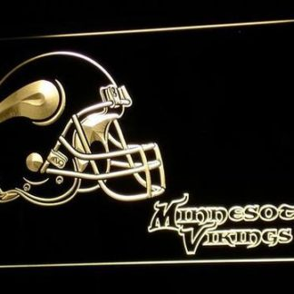 Minnesota Vikings Helmet 2 neon sign LED