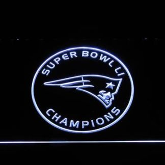 New England Patriots Super Bowl 51 Champions Circle Logo neon sign LED
