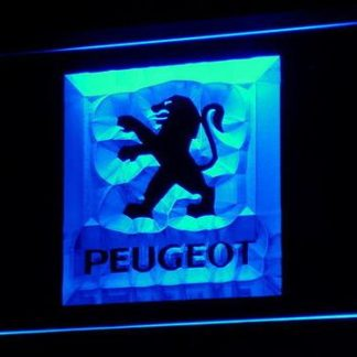 Peugeot neon sign LED