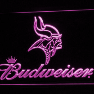Minnesota Vikings Budweiser neon sign LED