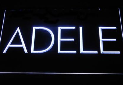 Adele neon sign LED