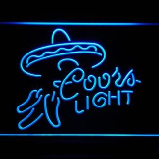 Coors Light - Sombrero and Chilis neon sign LED