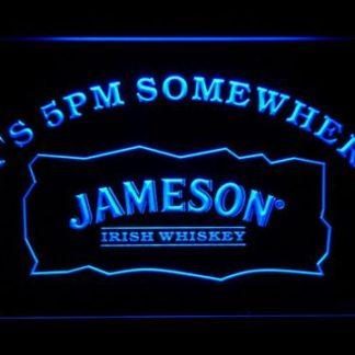 Jameson It's 5pm Somewhere neon sign LED