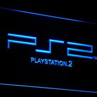 PlayStation PS2 neon sign LED