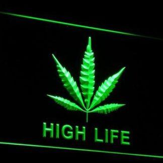 High Life Leaf neon sign LED