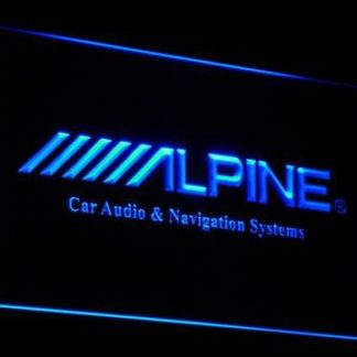 Alpine Car Audio and Navigation Systems neon sign LED