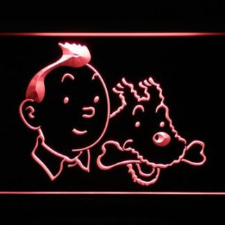 The Adventures of Tintin Tintin and Snowy neon sign LED