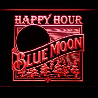 Blue Moon Old Logo Happy Hour neon sign LED