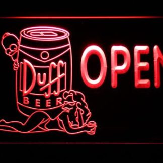 Duff Simpsons Open neon sign LED