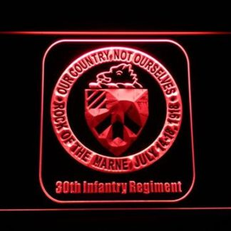 US Army 30th Infantry Regiment neon sign LED
