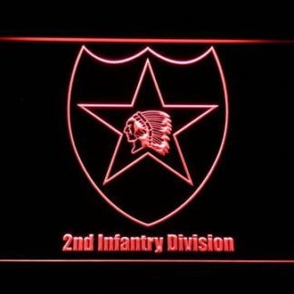 US Army 2nd Infantry Division neon sign LED