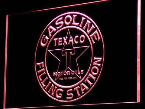 Texaco Gasoline Filling Station neon sign LED