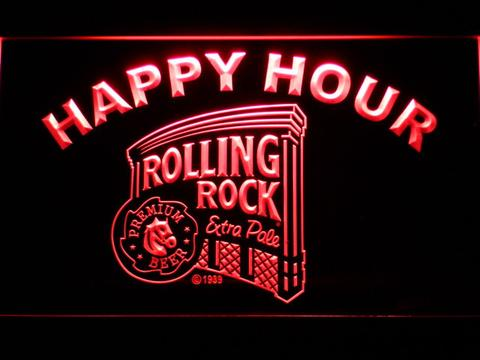 Rolling Rock Happy Hour neon sign LED