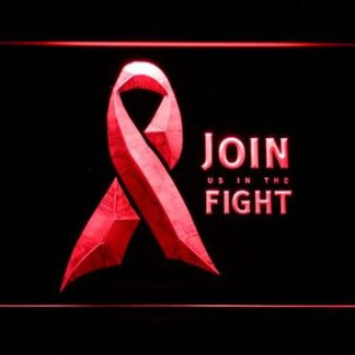 Pink Ribbon Join The Fight neon sign LED