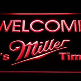 Miller Welcome It's Miller Time neon sign LED
