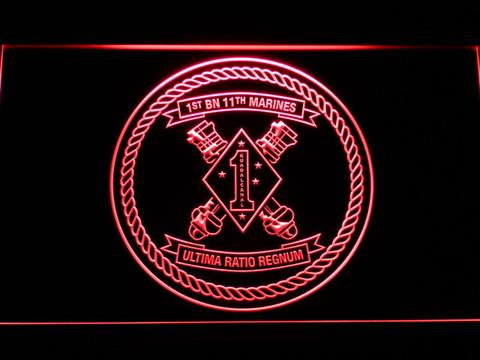 US Marine Corps 1st Battalion 11th Marines neon sign LED
