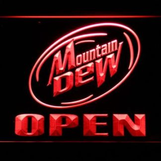 Mountain Dew Open neon sign LED