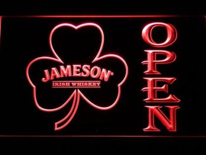 Jameson Shamrock Open neon sign LED