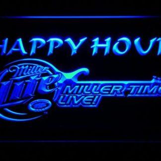 Miller Lite Miller Time Happy Hour neon sign LED