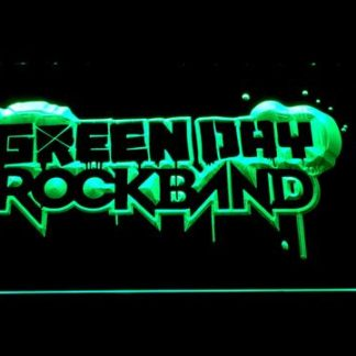 Green Day Rockband neon sign LED