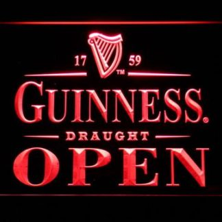 Guinness Draught Open neon sign LED