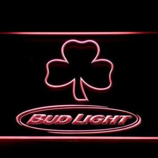 Bud Light Shamrock Outline neon sign LED