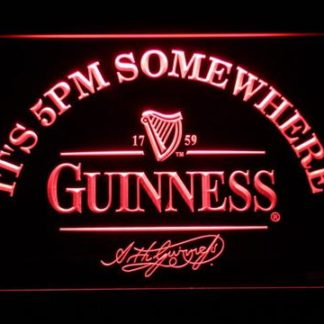 Guinness Signature It's 5pm Somewhere neon sign LED