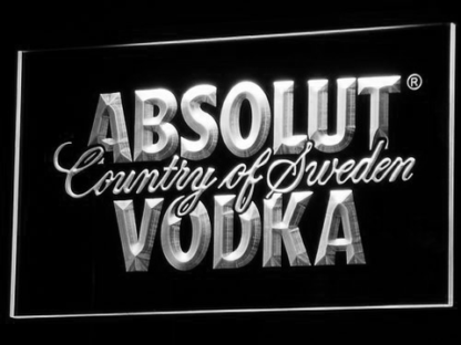 Absolut Vodka neon sign LED