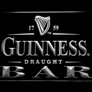 Guinness Draught Bar neon sign LED