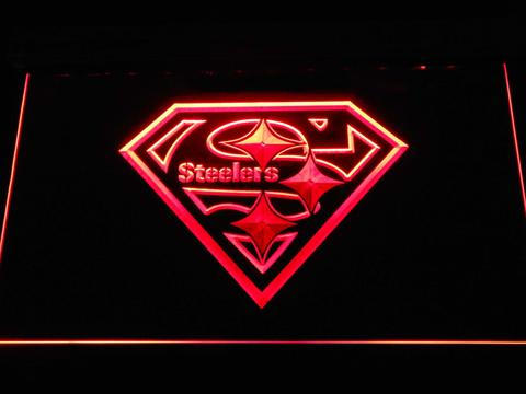 Pittsburgh Steelers Superman neon sign LED