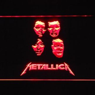 Metallica Faces neon sign LED