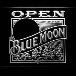Blue Moon Old Logo Open neon sign LED