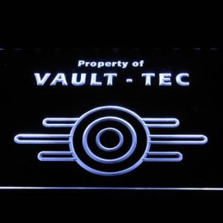 Fallout Property of Vault-Tec neon sign LED