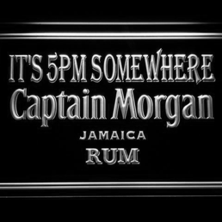 Captain Morgan Jamaica Rum It's 5pm Somewhere neon sign LED