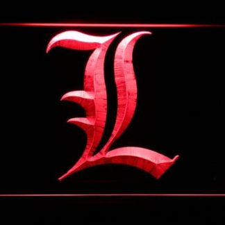 Death Note L neon sign LED