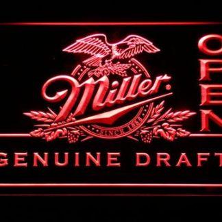 Miller Genuine Draft Open neon sign LED