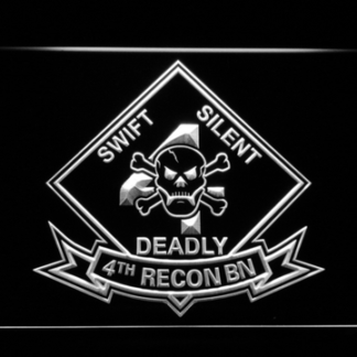 US Marine Corps 4th Recon Battalion neon sign LED