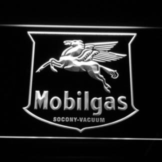 Mobilgas Old Shield Logo neon sign LED