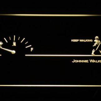 Johnnie Walker Keep Walking Fuel Gauge neon sign LED